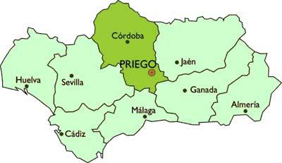 Priego de Córdoba, centro de Andalucía.